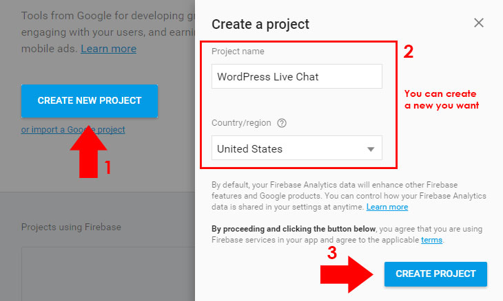 create-project-firebase