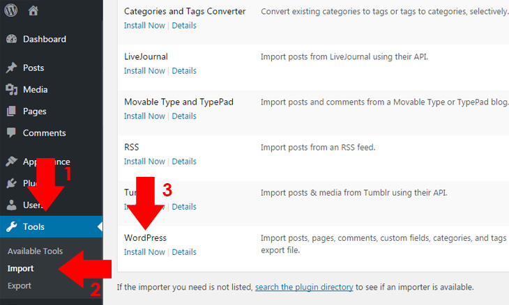 install-wordpress-import