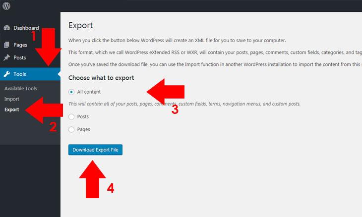 export-import-xml-contents